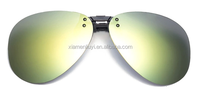 2015 New light weight polarized fashion flip up clip on sunglasses