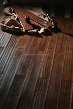 Bamboo Flooring Manufacturer Handscraped Solid Bamboo Flooring for Indoor Use in Teak Color -KE- H16021