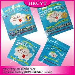 Cloud nine aluminium foil herbal incense potpourri smoke blend bag