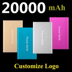 Hot Sales Super Slim MI Power Bank 20000mAh External Battery Pack For All Mobile Phones