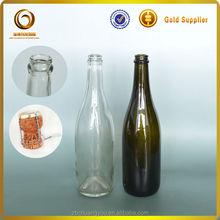Complete set glass wine bottle