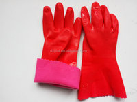 Hot Sale Comfortable Jersey Linning Rubber Household Gloves