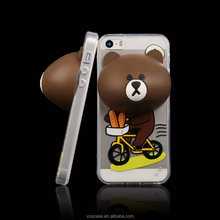 Alibaba china 3D bear soft silicon rubber phone case for iPhone 5s