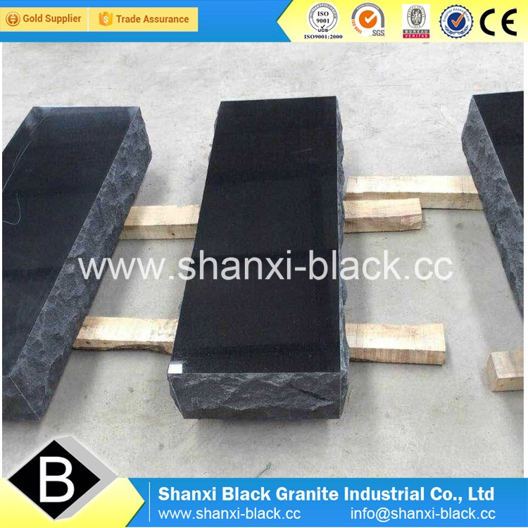 Absoute Black Granite Double Angel Tombstone Monuments