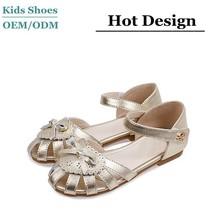 2015 Wholesale summer golden kids sandals