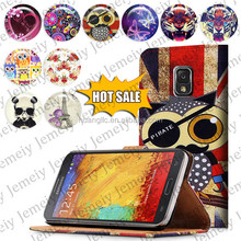 For Samsung Galaxy Note 3 N9005 Printing Folio Book Flip Folding PU Wallet Leather Case Media Stand Folio Case Cover