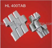 HL400TAB plastic link slat conveyor chain