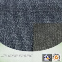 Double face blue/grey twill and cross pattern ploy/wool/other blend suit fabric for clothing