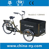 2015 hot sale factory UB9005 family three wheel cargo bike