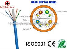 cat6 utp cable cat6 UTP/FTP 4PAIRS*2*0.57MM BARE COPPER/CCA /CCAM CABLE COMPANY