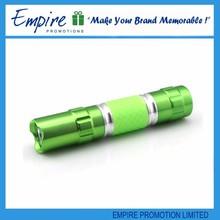 Wholesale newly custom green led flashlight