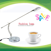 portable European style sliver table lamp for night use