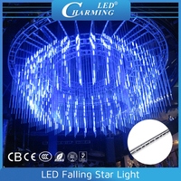 3D Magic Effects falling star LED Christmas lights with light and audio controlled synchronously