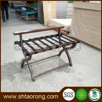 Factory direct modern hotel folded wooden bedroom luggage rack