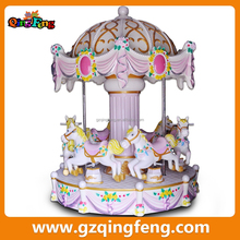 Qingfeng trade assurance carousel horse six seats little carousel horse for amusement park