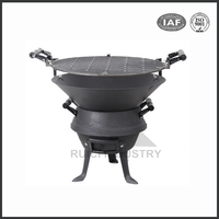 real fire indoor cast iron stove with oven (BSC003)