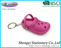 cut EVA crocs mini shoe keychain