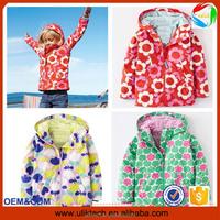 wholesale littel apple, flower printing baby girls jackets winter clothing for children
