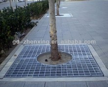 Factory direct hot-dipped galvanized serrated steel grating for sideway in high quality