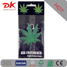Custom hanging car air freshener /wholesale bulk car air fresheners /paper air freshener