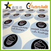 High quality custom design polyester sticker label