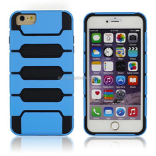 New arrive hot sale factory price double injection cover case for iphone6, PC and TPU mobile phone cover case for iphone6