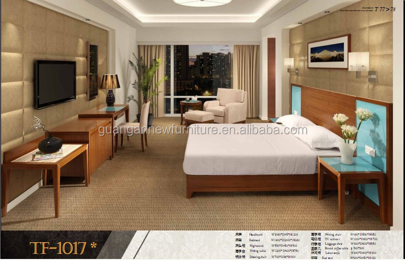 Promotion Commercial Furniture Solid Wood Hotel Bedroom Sets Hotel Furniture In Foshan Tf 1017
