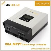 SMK SOLAR 80A MPPT charge controller for solar powe system with Monitoring system 12v 24v 48v
