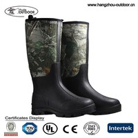 Mens Cheap Woodland Camo Neoprene Hunting Rain Boots