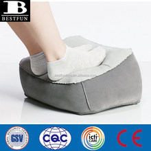 promotion bussiness gifts custom flocking inflatable foot rest pedicure foot support cushion