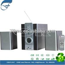 2.1 speaker usb sd card speaker with SD reader / USB / FM / remote control