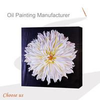 Modern White Canvas Flower Oil Painting , Daisies Flower Oil Painting on Canvas
