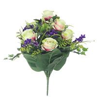 2015 newly home decoration artificial flower bush plastic wild rose bouquet