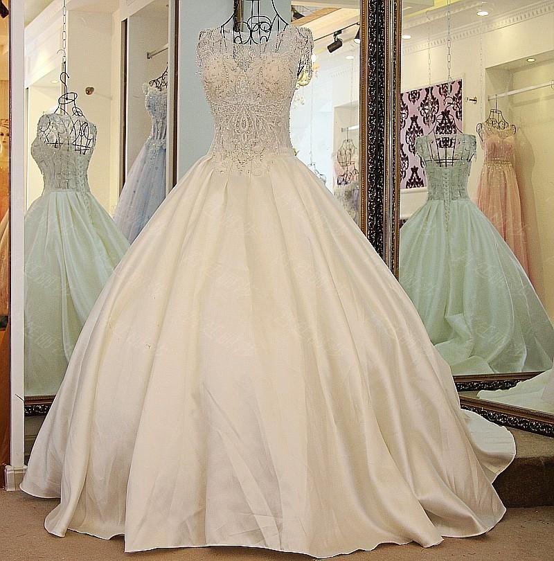 ls22800 fleuri dentelle robes de mariage en cristal perl