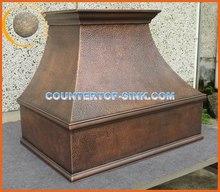 Hammered Copper Kitchen Range Hood