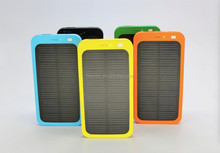 Real capacity waterproof 4000mAh solar mobile charger, manudal for power bank solar charger