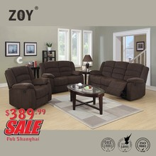 Living Room Fabric Motion Recliner Sofa Set For Sale With ZOY Cheap Price