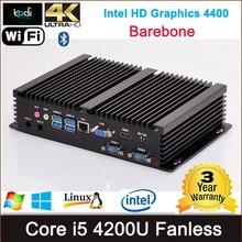 Dual display mini pc VGA+HD-MI 4K resolution HD Graphics intel CPU nuc model, horizontal mini pc case with 300M wifi Blutooth