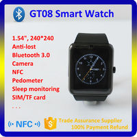 2015 new android 4.4 smart watch mobile phone,bluetooth smart watch
