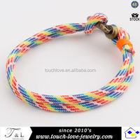 colorful bracelet with rope for man