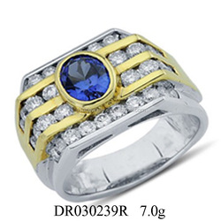 925 Silver Power Fancy Engagement Ring For Men