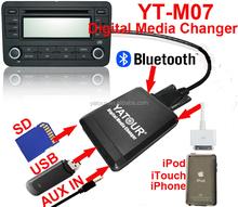 YT-M07 digital music changer bluetooth mp3 car cd player