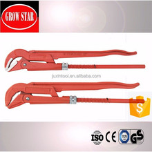 45 Degree S Type Bent Nose Pipe Wrench Dipped Handle