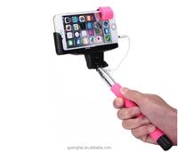 2015 Wholesale Supreme Mini Foldable Cable Selfie Stick Wired Selfie Stick,Monopod Selfie-Stick For Samsung S4/xiaomi redmi