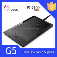 Ugee G5 Computer Writing Board Digital Tablet Passive Pen 9*6 Inch 2048 Pressure Sensitive 8G Memory Capability