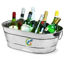 Large size Galvanised Steel Oval Party Tub beer ice bucket cooler