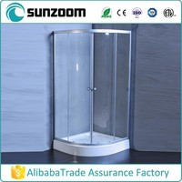 SUNZOOM curved glass shower enclosure,small shower enclosures,cheap shower enclosures
