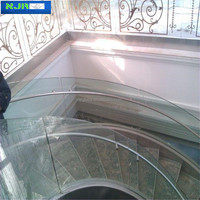 5mm Curved Glass for building