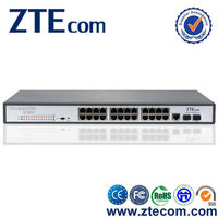 Made in China Supplier 10/100M rackmount 24 port network poe switch