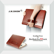 PU leather case for MacBook pro with retina display 15.6 Colorful Crazy-horse Thin leater case